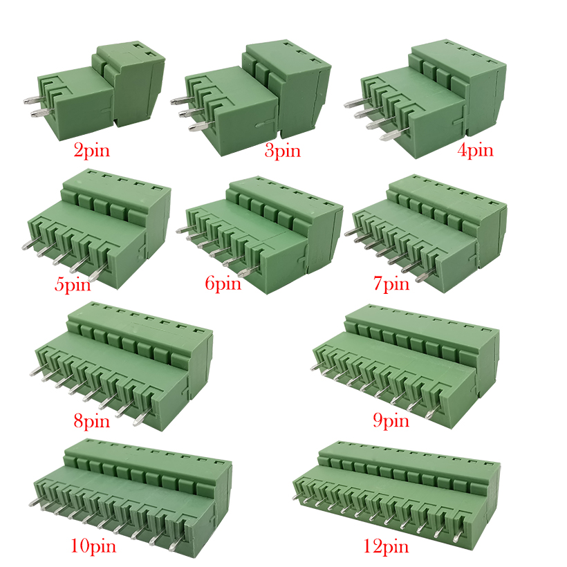 10pcs 15EDG 3.81mm KF2EDG <font><b>PCB</b></font> Screw Terminal Block <font><b>Connector</b></font> Plug-<font><b>Pin</b></font> Straight Needle Header Socket 2/3/4/5/6/7/8/9/<font><b>10</b></font>/12PIN image