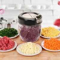 Manual Food Chopper Fruit Vegetable Cutter Meat Grinder Nut Shredder Mincer Portable Home Kitchen Roller Gadgets Tool