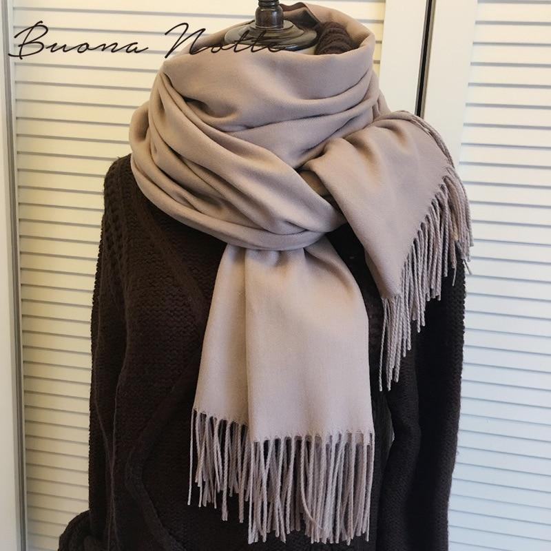 Cashmere Women Scarf Warm Shawl Foulard Femme Pashmina Kerchief Wool Stole Head Neck Long Winter Scarf Women For Ladies 2019