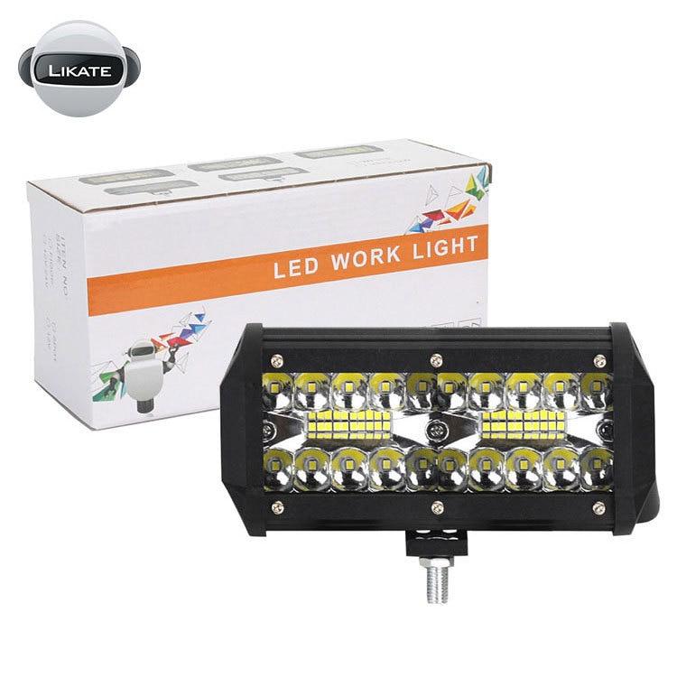 Автомобильный светодиодный рабочий светильник бар 120 Вт 12