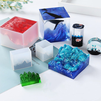 Silicone Resin Mold Dried Flower Uv Epoxy Resin Mold Mountain Shaped Decorative Craft Molds For Diy Jewelry Making Tools diy home dec special shapes candle mold making kits shaped marble molds for candles resin mold diy manual wax candles lz71a
