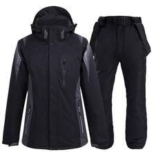 2020 Neue Thermische Winter Ski Anzug Männer Frauen Winddicht Wasserdicht Skifahren und Snowboarden Jacke Hosen Anzug Männlichen Schnee Kostüm Tragen