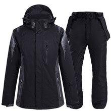2020 nowy termiczny zimowy kombinezon narciarski mężczyźni kobiety wiatroszczelna wodoodporna kurtka narciarska i snowboardowa spodnie garnitur męski śnieg kostium nosić
