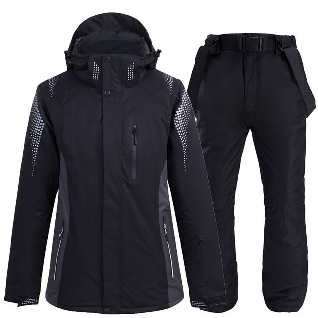 Новинка 2020, теплый зимний лыжный костюм для мужчин и женщин, ветрозащитный водонепроницаемый костюм для катания на лыжах и сноуборде, куртка и брюки, мужской костюм для снега