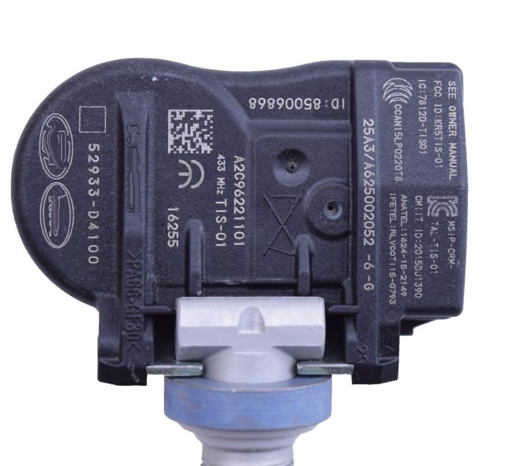 cheapest 4 X TPMS For 2015-2022 Hyundai ELANTRA 2019 I30 FASTBACK KIA OPTIMA NIRO Tire Pressure Monitor SENSOR 52933-D4100 52933-D91000