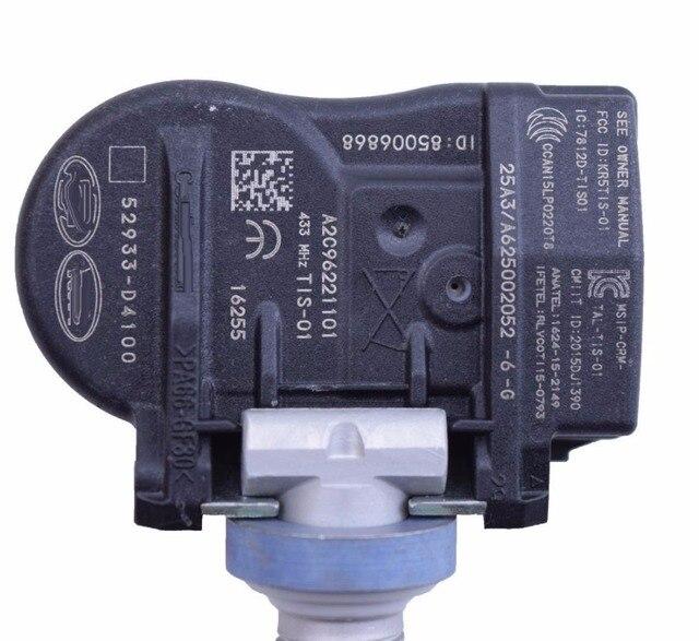 4 X TPMS For 2015-2022 Hyundai ELANTRA 2019 I30 FASTBACK KIA OPTIMA NIRO Tire Pressure Monitor SENSOR 52933-D4100 52933-F2000 2
