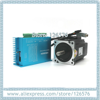 Total Closed Loop 2-phase stepper Motor 12N.m 86HBS120 + HBS860H hybrid Nema34 driver with 3m cable