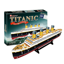 Puzzles Model-Games Brain Ship Titanic 3D for Adults Learning-Education Teaser Assemble