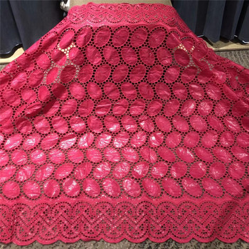 African bazin riche fabric with brode Latest fashion embroidery bazin lace fabric with net lace 5 yards 4L062301