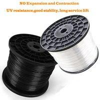 HQ BR01 Cable de cuerda de alambre de Judin Anti óxido con revestimiento de PVC negro/Tranparent agricultura invernadero rollo de Cable de soporte