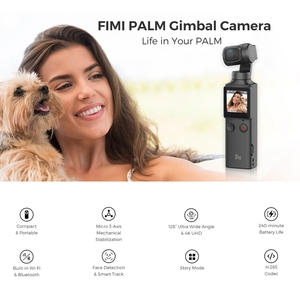 Image 5 - FIMI PALM 3 axis Stabilized Handheld Camera 120g 4K UHD 128° Ultra Wide Angle Smart Track Built in Microphone & Wi Fi Control