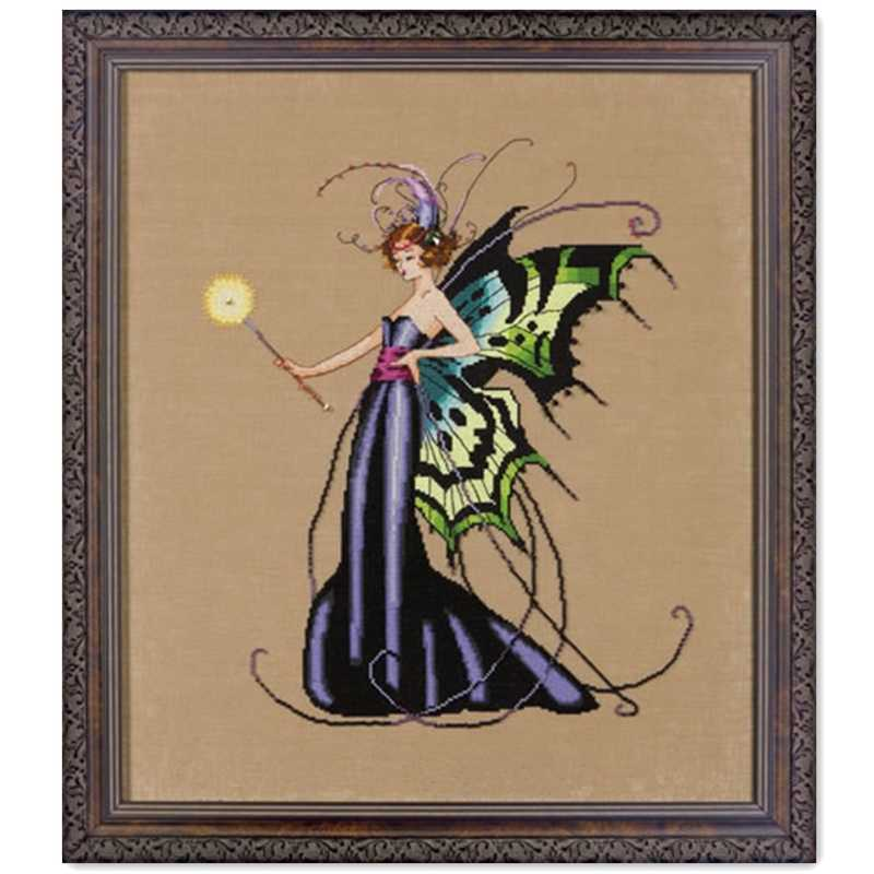 August Peridot Fairy cross stitch kit fairy design 14ct 11ct linen flaxen canvas cotton silk embroidery DIY needlework
