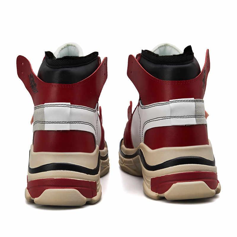 VSIOVRY Outono Sapatilhas Das Mulheres Dos Homens de Couro Respirável À Prova D' Água Desporto Sapatos de Pele do Inverno Quente Tênis para Caminhada Sapatos De Corrida de Alta