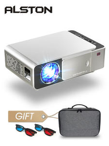 ALSTON T6 full hd led проектор 4k 3500 люмен HDMI USB 1080p портативный проектор для кинотеатра с таинственным подарком
