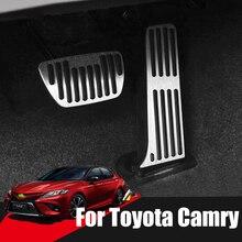 Auto Accelerator Gas Bremspedal Fußstütze Pedale Abdeckung Für Toyota Camry 40 XV40 50 XV50 70 XV70 2006 2018 2019 2020 zubehör