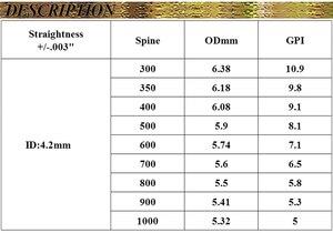 Image 5 - 12 шт., стрелы для стрельбы из лука V1, новые стрелы из чистого углерода, Вал позвоночника 350 900 id4.2мм для рекурсивного лука, охотничьей стрельбы