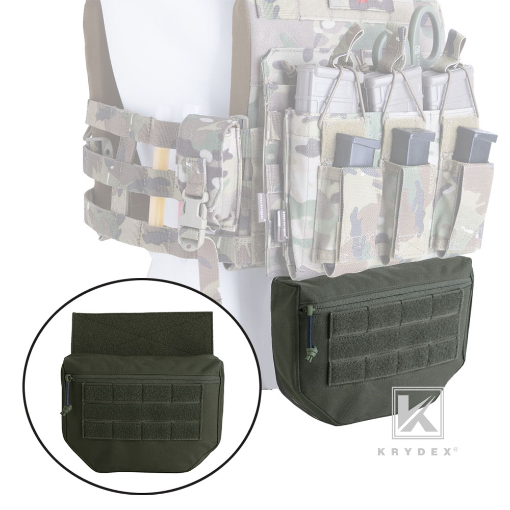 KRYDEX Tactical Drop Dump Pouch Fanny Pack For Plate Carrier JPC AVS CPC APC RRV Tactical Vest Tool Organizer Bag Front Pocket