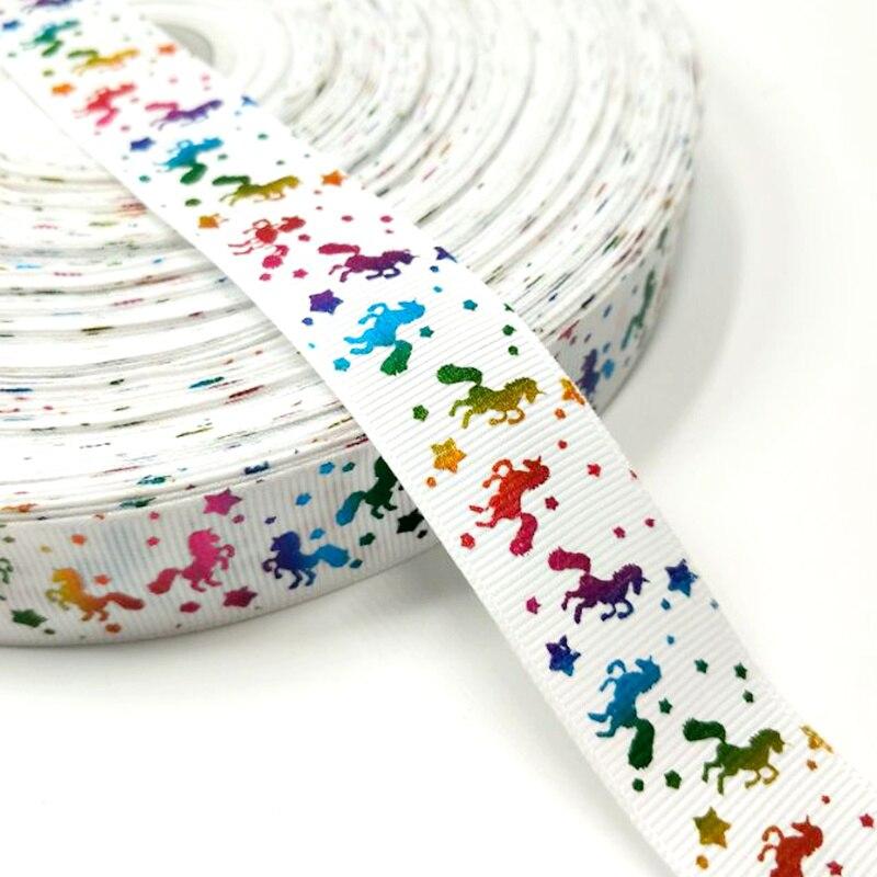 Рождественская лента Hl 5 ярдов 25 мм горячее тиснение корсажные ленты Свадебные украшения Швейное Ремесло «сделай сам» для изготовления бантов для волос