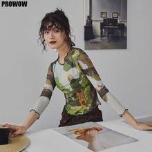 Женский дизайнерский Топ винтажная сетчатая укороченная футболка