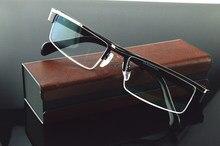 Liga de titânio estilo negócio meia-borda lentes de revestimento multi-camada óculos de leitura 0.75 1 1.25 1.5 1.75 2 2.25 2.75 a 6
