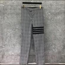 2021 Fashion TB THOM Brand Pants Men Casual Suit Pants Gray Plaid Business Striped Spring And Autumn Formal Trousers