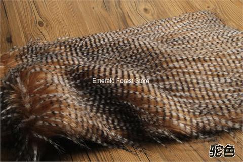 Tecido da Pele do Falso de Alta Penas de Pavão de Imitação Tecido de Pelúcia Tecido à Mão Qualidade Faça Você Mesmo Pano Feltro Artesanato 150 cm * 50 – Pcs