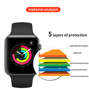 Image 5 - Screen Protector Clear Full Coverage Protective Film for Apple Watch 5 4 3 2 1 Protective Film For Iwatch 40MM 44MM 38MM 42M
