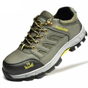 Image 4 - Męskie buty do pracy dla mężczyzn stalowe obuwie ochronne z podnoskiem odporne na przebicie obuwie robocze