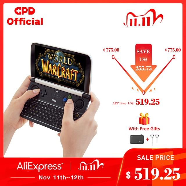 GPD WIN2 WIN 2 Windows 10 Gaming Laptop Mini Portable Computer Notebook  Intel Core M3 8100Y 8GB+256GB 6 Inch IPS Touch Screen