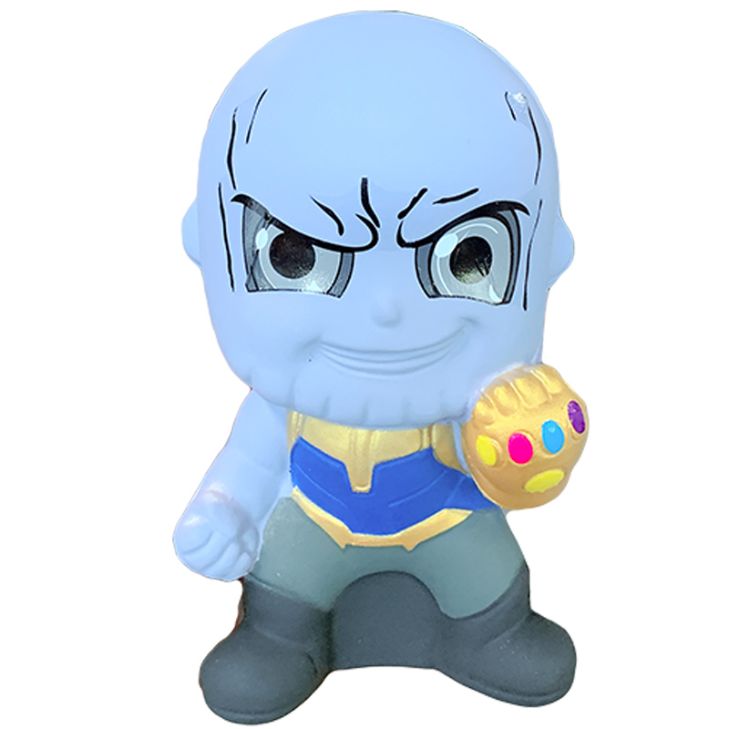 Jumbo Kawaii Marvel Thanos Squishy Squeeze Toys Novelty Slow Rising Soft Cartoon Doll Toy Stress Relief For Kid Xmas Gift Toy