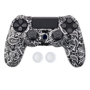 Image 4 - Anti slip Silicone Cover Skin Case for Sony Play Station Dualshock 4 PS4 Pro Slim Controller+ 2 Thumb Stick Grips Caps