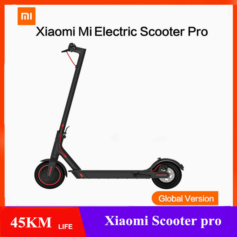 Global Version Xiaomi Mijia Pro Smart Electric Scooter 12.8AH Battery MAX 45KM Mileage Range Foldable Skate Board KickScooter