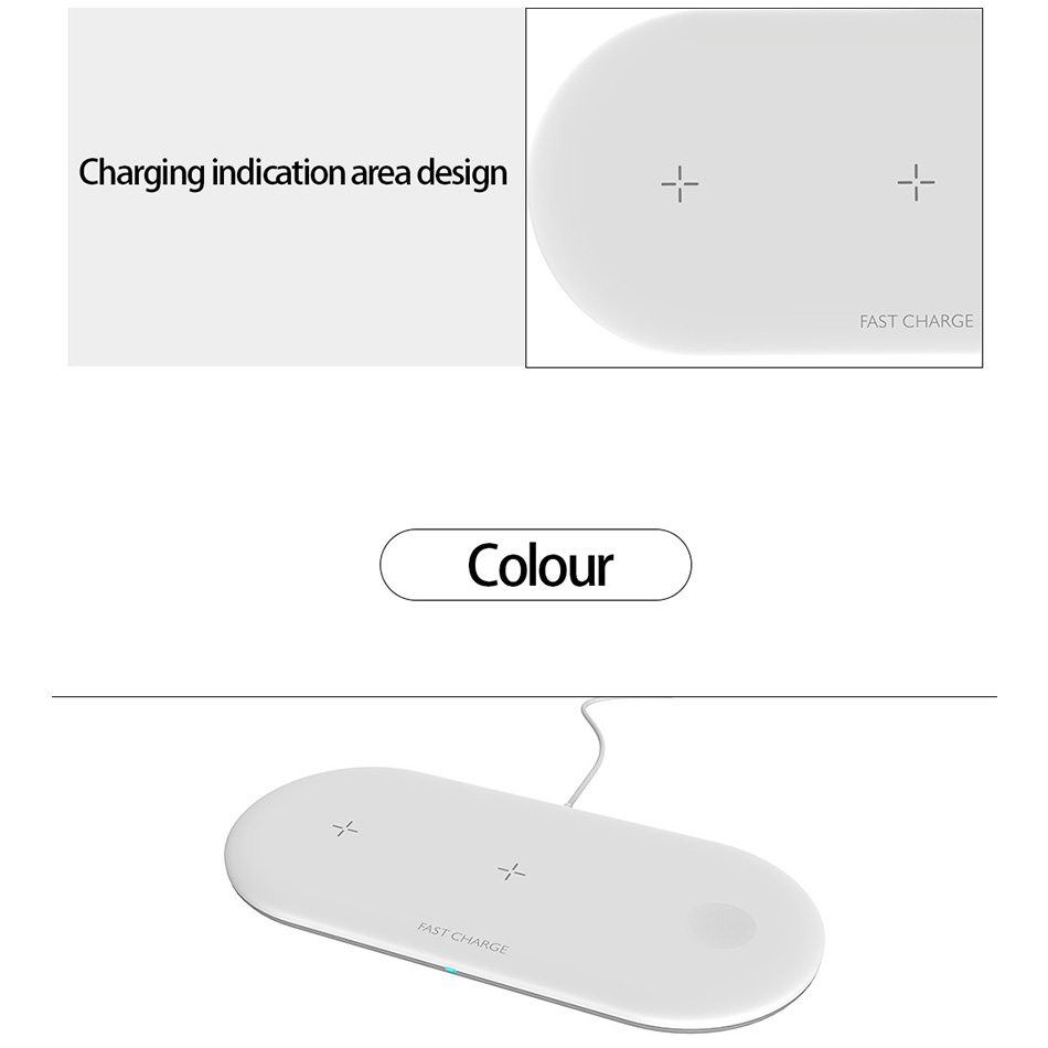 Image 4 - 3 in 1 Airpower Qi Fast Wireless Charger Pad Qi Wireless Charger Holder for Apple Watch 4 3 2 1 for mobile phones Fast Charger-in Mobile Phone Chargers from Cellphones & Telecommunications