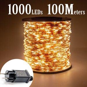 100M 1000 LEDs Copper Wire Fai
