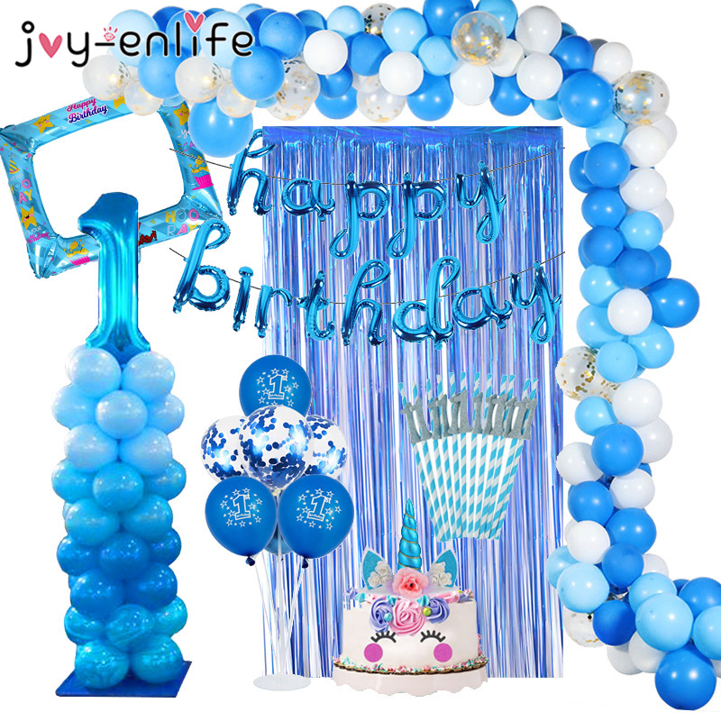 1 Years Birthday Balloons Baby Shower Birthday Party Decoration Kids 1st Birthday 1 Years Boy Children's Balloons Party Supplies
