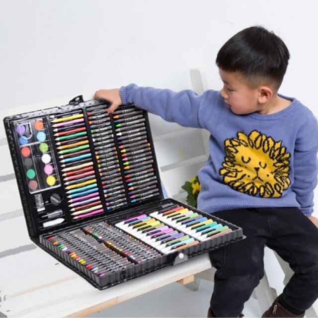 مجموعة أقلام تلوين فنية للرسم مكونة من 168 قطعة أقلام تلوين ألوان مائية للأطفال والطلاب هدايا أعياد الميلاد للأطفال