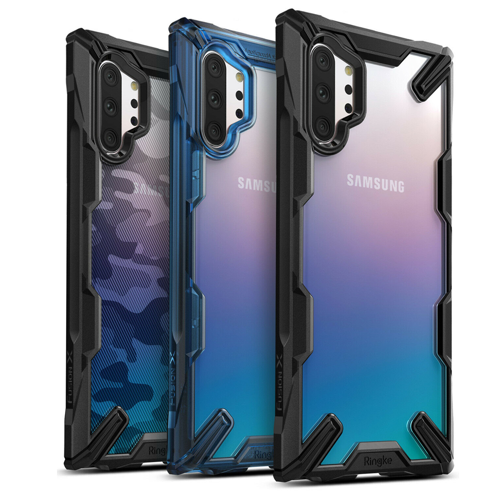 Ringke Fusion X for Galaxy Note 10 Plus Case Shock Absorption Transparent Hard PC Back Soft