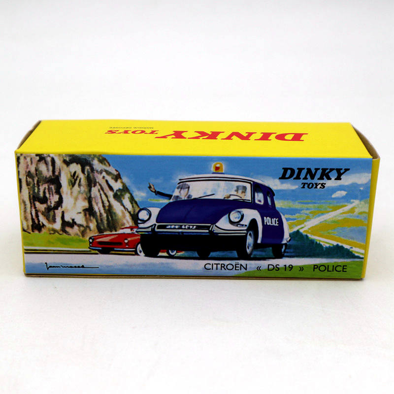 Image 4 - Atlas 1/43 Dinky Toys 501 Citroen DS 19 Police Models Diecast Collection Auto Car Gift MiniatureDiecasts & Toy Vehicles   -