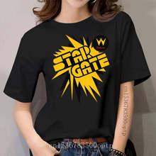 StarGate, Star Gate, Retro, Arcade, Cabinet, Logo, Williams, Pinball, Video Game Cool Casual pride t shirt women Unisex Fashion