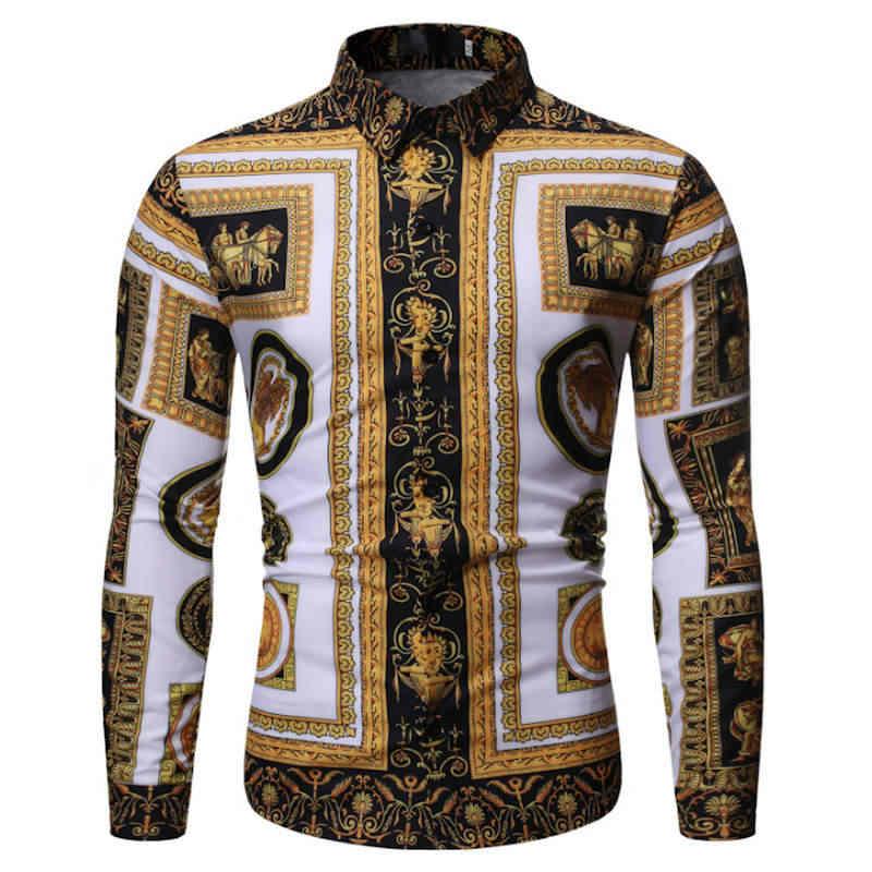 2019 marca casual primavera lujo plaid manga larga slim fit hombres camisa streetwear vestido social camisas hombres moda jersey