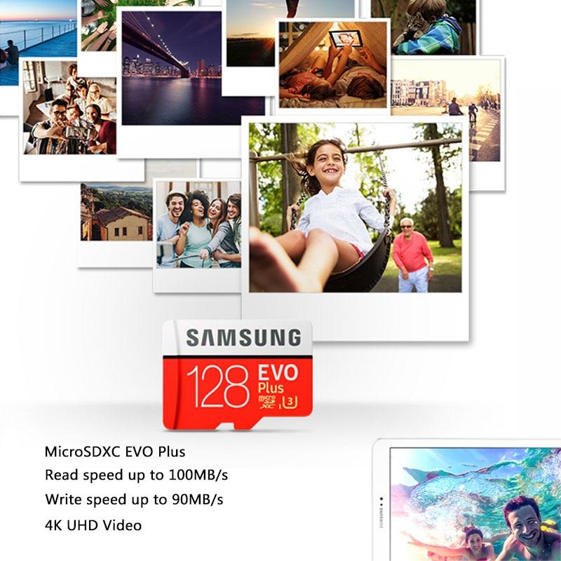 Оригинальная карта памяти SAMSUNG EVO Plus 64 Гб U3 EVO + 128 ГБ 256 Гб класс 10 Micro SD карта 32 Гб 16 Гб microSD UHS-I U1 TF карта
