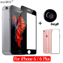 New 2.5D 3-in-1 Case + Camera Tempered Glass For iPhone 6 Screen Protector Plus Full cover