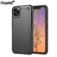 2 in 1 Armor Shield Case on For Fundas iPhone 11 2019 XI Max ShockProof Hard Back Cover Xs X 7 8 6 Plus Phone