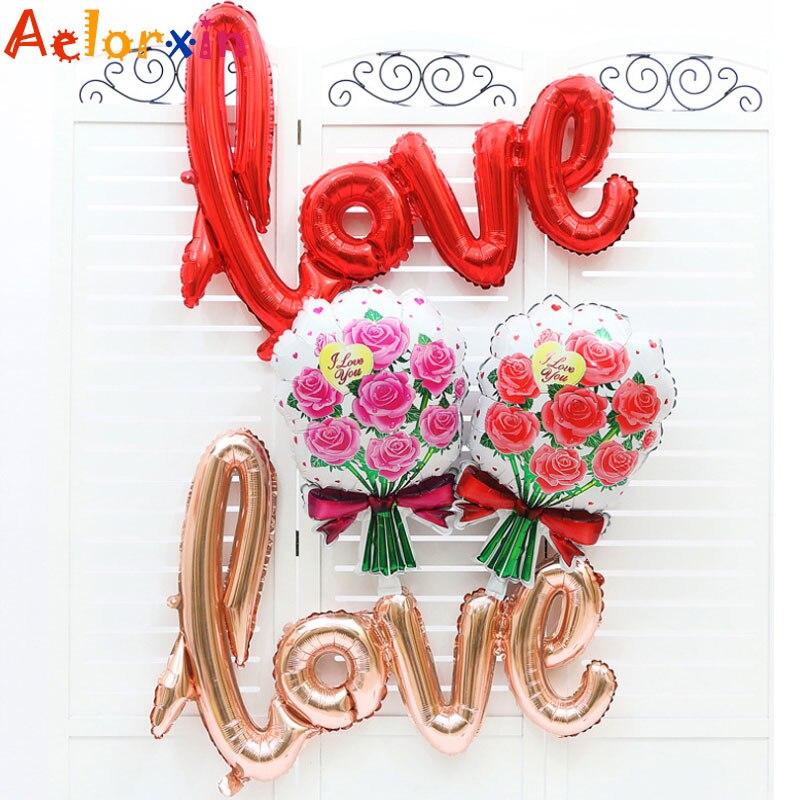 106cm * 65cm coloré amour ballon enfants anniversaire dessin animé gonflable enfants fête d'anniversaire décoration fête chapeau colonne boule