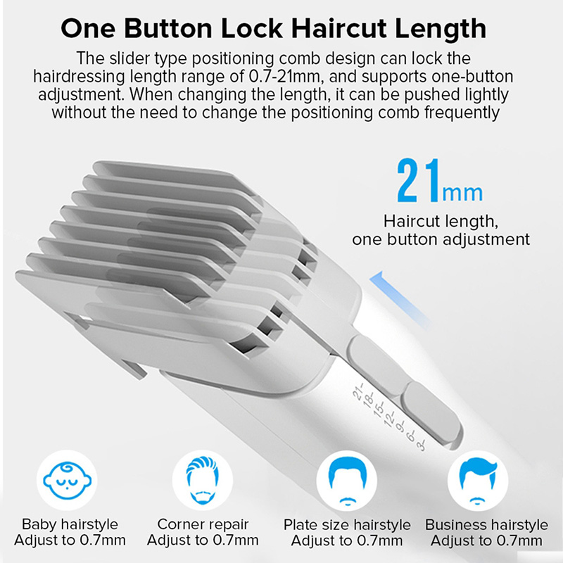 ENCHEN Boost Hair Trimmer For Men Kids Cordless USB Rechargeable Electric Hair Clipper Cutter Machine With Adjustable Comb 3