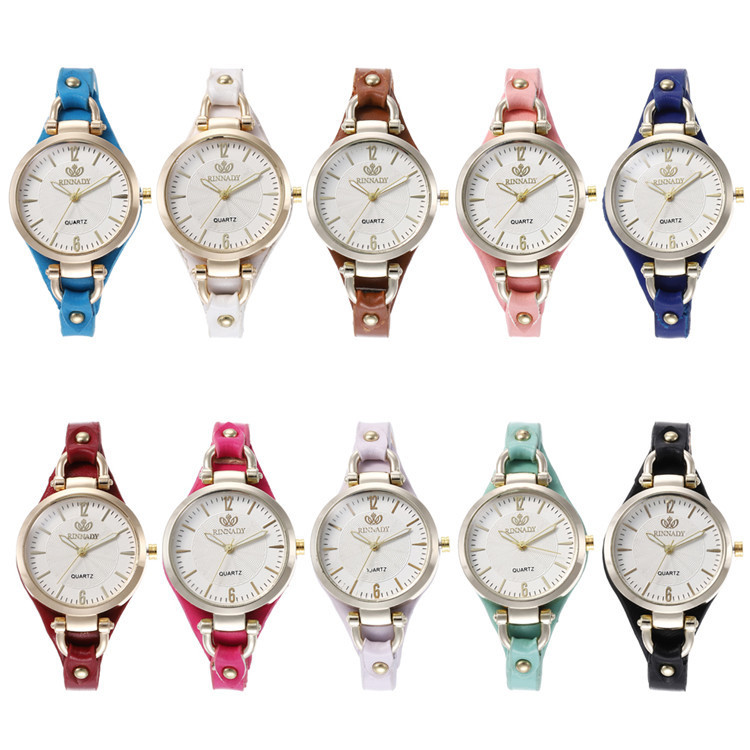 Fashion Belt Series Bracelet Watch Article Exquisite Multicolor Circular Top Watch Joker Lady Wrist Watch