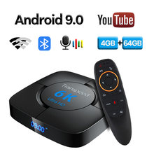 6K 3D Android 9,0 TV Box Wifi 2,4G & 5,8G 4GB RAM 32G 64G google Assistent Video TV Bluetooth TV Box Play Store Schnelle Set top Box(China)