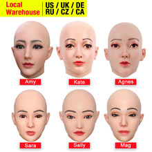 Dokier Crossdressing Soft Silicone Cosplay Costume Masks Props for Crossdresser Transvestite Halloween Cosplay Male to Female