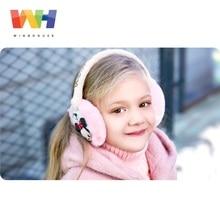 Детские теплые наушники Winghouse для девочек с изображением Минни Маус, мультяшного кота, Детские теплые ветрозащитные беруши, зимние наушники, чехлы для ушей