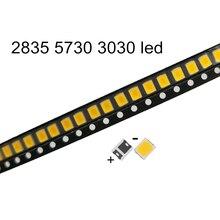 100 sztuk o wysokiej jasności LED SMD 2835 1W 135LM biały 3V 6V 9V 18V 36V 150MA 100MA 30MA 60MA 350mA jasne oświetlenie